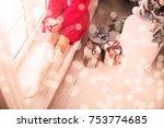 beautiful legs closeup at... | Shutterstock . vector #753774685