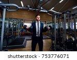 businessman doing exercises...   Shutterstock . vector #753776071