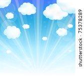 sky and cloud  vector... | Shutterstock .eps vector #75378289