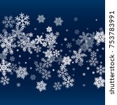 snow flakes falling winter... | Shutterstock .eps vector #753783991