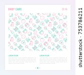baby care concept with thin... | Shutterstock .eps vector #753786211