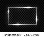 silver shining square banner.... | Shutterstock .eps vector #753786901