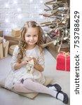 lovely girl on the background...   Shutterstock . vector #753788629