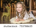 lovely girl on the background...   Shutterstock . vector #753788635