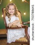 lovely girl on the background...   Shutterstock . vector #753788641