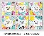 set of creative card template... | Shutterstock . vector #753789829