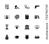 law justice icons   expand to... | Shutterstock .eps vector #753790759