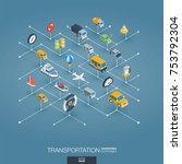 transportation integrated 3d... | Shutterstock .eps vector #753792304