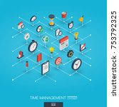 time management integrated 3d... | Shutterstock .eps vector #753792325