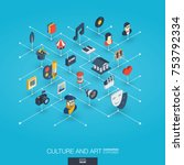 culture  art integrated 3d web... | Shutterstock .eps vector #753792334