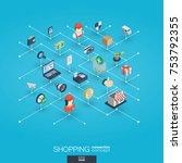 shopping integrated 3d web... | Shutterstock .eps vector #753792355