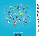 development integrat 3d web... | Shutterstock .eps vector #753794095