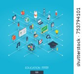 education integrated 3d web... | Shutterstock .eps vector #753794101
