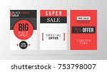 three vertical black friday... | Shutterstock .eps vector #753798007