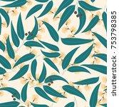 seamless floral pattern.... | Shutterstock .eps vector #753798385