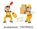 set of illustrations  ... | Shutterstock .eps vector #753799321