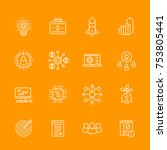 startup linear icons set  new... | Shutterstock .eps vector #753805441