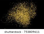 gold glitter texture isolated... | Shutterstock .eps vector #753809611