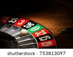 macro shot of a roulette in a... | Shutterstock . vector #753813097