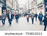 london  uk   19 february  2017  ... | Shutterstock . vector #753813211