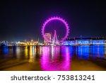 london  uk   18 february  2017  ... | Shutterstock . vector #753813241