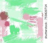 splash brush strokes seamless... | Shutterstock .eps vector #753820714