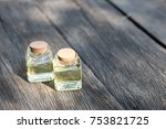 bottle of aroma essential oil...   Shutterstock . vector #753821725