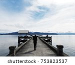 someone was happy with... | Shutterstock . vector #753823537