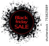 round black friday sale... | Shutterstock .eps vector #753825889