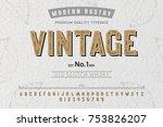 font. alphabet. script.... | Shutterstock .eps vector #753826207