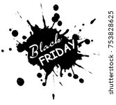 black friday sale background | Shutterstock .eps vector #753828625