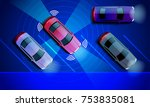 smart car is automatically... | Shutterstock .eps vector #753835081