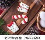 delicious christmas cookies | Shutterstock . vector #753835285
