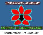 logo flower agriculture faculty ... | Shutterstock .eps vector #753836239