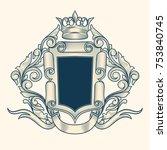 ornate decorative vintage emblem | Shutterstock .eps vector #753840745