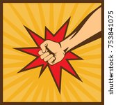 a fist clenched hands of anger | Shutterstock .eps vector #753841075