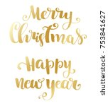 gold happy new year and maeery... | Shutterstock .eps vector #753841627