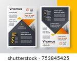 business flyer brochure design... | Shutterstock .eps vector #753845425