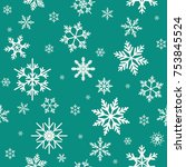winter seamless pattern with... | Shutterstock .eps vector #753845524