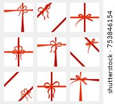 set of gift card  wide present... | Shutterstock .eps vector #753846154