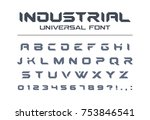 hard style universal font.... | Shutterstock .eps vector #753846541