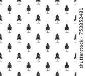 vector big forest fir seamless...   Shutterstock .eps vector #753852481