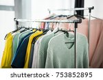 close up view of fashionable... | Shutterstock . vector #753852895