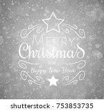 christmas greetings on shiny... | Shutterstock .eps vector #753853735