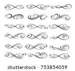 set design elements. vector... | Shutterstock .eps vector #753854059