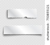 two white realistic paper... | Shutterstock .eps vector #753855121
