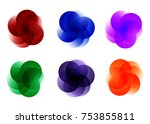 set of colorful round abstract... | Shutterstock .eps vector #753855811