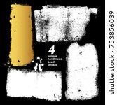 set of textured dry brush... | Shutterstock .eps vector #753856039