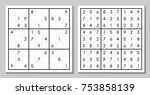 vector sudoku with the answer.... | Shutterstock .eps vector #753858139