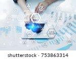 organisation structure chart ... | Shutterstock . vector #753863314